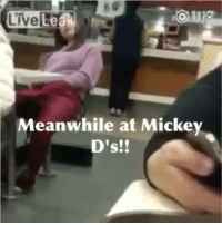 LiveLeak  Meanwhile at Mickey  D's!!