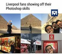 Memes, Photoshop, and Sublime: Liverpool fans showing off their  Photoshop skills  THIS IS  ANFIELD  Centre  ww  SToucate  EUROPE Sublime Photoshop😂🙄 Follow-@footballmemesinsta