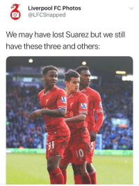 Soccer, Lost, and Awkward: Liverpool FC Photos  @LFCSnapped  We may have lost Suarez but we still  have these three and others: Well this is awkward now 😂 https://t.co/wcxfmQIqh8