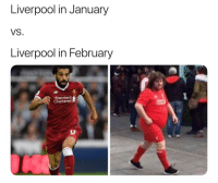 The difference a month can make: Liverpool in January  VS.  Liverpool in February  Standard  Chartered  LEC The difference a month can make