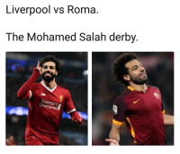 Memes, Liverpool F.C., and 🤖: Liverpool vs Roma.  The Mohamed Salah derby  Standard  nartered