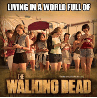 Memes, 🤖, and Zombi: LIVING IN A WORLD FULLOF  THE  THEFREETHOUGHTPROJECTCOM  WALMINGDEAD Modern day zombies and they are hungry for charging sockets 😉