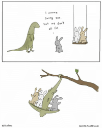☮️❤️: liz climo  I wanna  Swing too.  but we don't  all fit  lizClimo, tumblr.com ☮️❤️