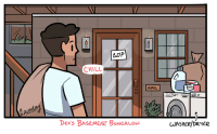 """Chill, Target, and Tumblr: LJJP  CHILL  MAIL  was  Dex's BASEMENT BUNCALOW  JASnce/D212 omgcheckplease:  Check, Please! updated!Comic 4.8: """"Haus 2.0″ and its blog post are here.⭐"""