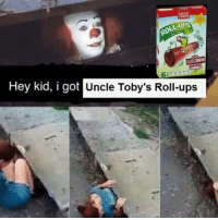 Memes, Ups, and 🤖: LL UPS  Hey kid, i got  Uncle Toby's Roll-ups I legit still have one of these every day 😂