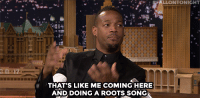 "Queen Latifah, Marlon Wayans, and Target: LLONTONIGHT  na  THAT'S LIKE ME COMING HERE  AND, DOING A ROOTS SONG <p><a href=""https://www.youtube.com/watch?v=JThzR--d-7Q&amp;index=1&amp;list=UU8-Th83bH_thdKZDJCrn88g"" target=""_blank"">Marlon Wayans has a couple notes about Queen Latifah's lip sync song choice&hellip;</a></p><p>[ <a href=""http://www.nbc.com/the-tonight-show/segments/132161"" target=""_blank"">Part 2</a> ]</p>"