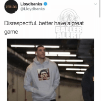 "Just two months after LonzoBall says ""Don't nobody listen to Nas anymore,"" he shows up to his game at MadisonSquareGarden wearing a hoodie with his face on Nas' album cover: Lloydbanks  @Lloydbanks  OVERLEAD  Disrespectful..better have a great  game Just two months after LonzoBall says ""Don't nobody listen to Nas anymore,"" he shows up to his game at MadisonSquareGarden wearing a hoodie with his face on Nas' album cover"