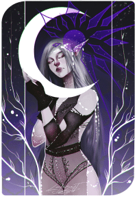 Target, Tumblr, and Blog: lluminescent:  Tarot commission for a friend ~ her Dark Knight representing the Moon~ ♥