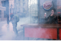 Tumblr, Blog, and Http: llya Varlamov varlamov.ru scifiseries:  Enjoying the riots in Paris while having a burger….great wifi!