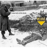 Lmao look at this dude  REVIVE  Plsbrolhaverayg_t  Pls biot haveray,gun,