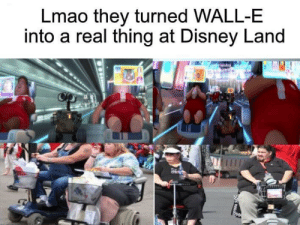 Dank, Disney, and Lmao: Lmao they turned WALL-E  into a real thing at Disney Land Wow that's a pretty cool cosplay by Plaku123 MORE MEMES