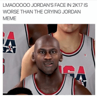 Bruhh why they make him look like he got a speech impediment 😂: LMAOOOOO JORDAN'S FACE IN 2K17 ISS  WORSE THAN THE CRYING JORDAN  MEME Bruhh why they make him look like he got a speech impediment 😂