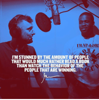 Facts, Memes, and Link: l'MSTUNNED BY THE AMOUNT OF PEOPLE  THAT WOULD MUCH RATHER READAB00K  THAN WATCHTHEBEHAVIOROF THE  PEOPLE THAT AREWINNING.  DAILY VEE 205 FACTS! Link to new episode in my bio now ..