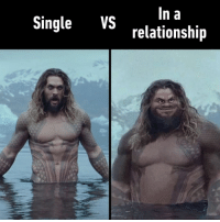 9gag, Memes, and Time: ln a  relationship  Single VS Can't stay perfect all the time right?⠀ aquaman jasonmomoa 9gag