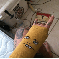 """Memes, 🤖, and Ace: LND RepostBy @jesseguffy: """"When you're 99.9% sure your hands broken, but you hafta fucking skate 24-7 :365. 1) ace bandage 1) toy machine sock (for mental prep and a shoulder to cry on) 🤘🏼🤘🏼 goskate"""" toymachinesocks"""