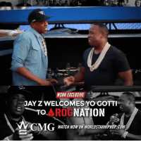 Jay, Jay Z, and Memes: lNSAH EXCLUSIVE  JAY Z WELCOMES YO GOTTI  To ROC  NATION  CMG  WATCH NOW ON WORLDSTARHIPHOPCOM WSHH Exclusive JayZ Welcomes @YoGottiKOM To RocNation! LiveNow Exclusive YoGotti CMG