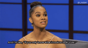 "latenightseth:  Misty Copeland has a message for people who think dancers are ""cute."" :  #LNSM  And I'm like, ""lfyou only knowwhat it took to look'cute. latenightseth:  Misty Copeland has a message for people who think dancers are ""cute."""