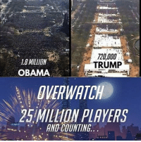 Zenyatta for president? Found on: @ow.mei.memes.fanart.ships Overwatch Overwatchmeme: LO MILLION  TRUMP  OBAMA  WATCH  25 MILLION PLAYERS  AND COUNTING Zenyatta for president? Found on: @ow.mei.memes.fanart.ships Overwatch Overwatchmeme