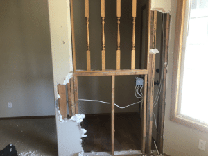Picture, Bearing, and Load: Load bearing wall? Is anyone able to tell by the picture?