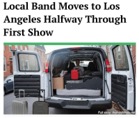 "Memes, Kids, and Los Angeles: Local Band Moves to Los  Angeles Halfway Through  First Show  Full story: thehardtimes.net ""It's been amazing to watch these kids grow. With that first song, they were just figuring themselves out, but they really locked in with the second one. That's when I knew they were just too big for us."""
