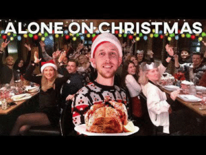 Local guy in my city hosted a Christmas dinner for 50+ strangers who were alone during the holidays. Very wholesome video, lots of businesses donated food and drinks too! If you want to watch the vid i have the link on my profile since you can't post it here. Happy new year!: Local guy in my city hosted a Christmas dinner for 50+ strangers who were alone during the holidays. Very wholesome video, lots of businesses donated food and drinks too! If you want to watch the vid i have the link on my profile since you can't post it here. Happy new year!