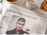 Making a difference.: Local Man Finds Cure For AIDS Making a difference.
