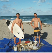 Funny, Memes, and Ocean: LOCEAN.COM 2 surfers who care about the ocean so much, they found a way to keep it clean! @4ocean