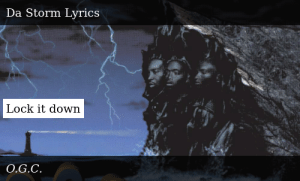 through da storm lyrics