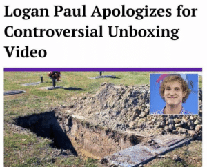 "All I wanted to do was raise awareness about death, which is a very serious issue because if you are dead you can't like and subscribe. #logang #maverick"" by 1j12 MORE MEMES: Logan Paul Apologizes for  Controversial Unboxing  Video All I wanted to do was raise awareness about death, which is a very serious issue because if you are dead you can't like and subscribe. #logang #maverick"" by 1j12 MORE MEMES"