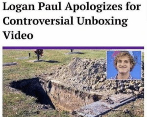 @DramaAllert: Logan Paul Apologizes for  Controversial Unboxing  Video @DramaAllert