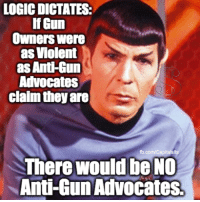 True!: LOGIC DICTATES:  If Gun  Owners were  as Violent  as Anti-Gun  Advocates  claim they are  fb.com/Capitalsits  There would be NO  Anti-Gun Advocates True!
