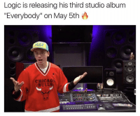 "Chicago, Chicago Bulls, and Logic: Logic is releasing his thirdstudio album  ""Everybody"" on May 5th  CHICAGO  BULLS New Logic dropping soon! 🔥 https://t.co/zOJXIOttPp"