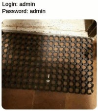 Login, Admin, and Password: Login: admin  Password: admin