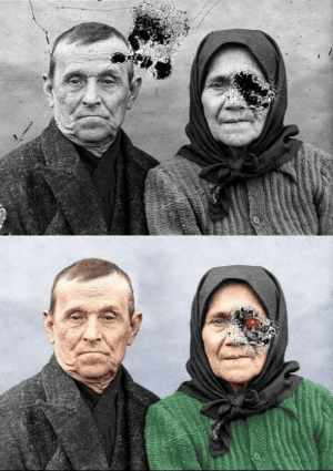 Lol, Tumblr, and Blog: lol-coaster:  My friend has been practicing restoring and colorizing old photos.