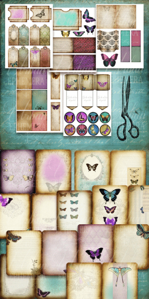 Back to Back, Beautiful, and Life: lol-coaster:    Printable Journal kit     This is the Printable Urban Ephemera Butterfly Ball Journal. One of the biggest journaling kits available!See it come to life here https://youtu.be/JsNz0X1MJQgThe whimsical Butterfly Ball Journal comes with 19 beautiful 8x11 printable pages that fold in half to create a 5x7 journal. Ten of these pages are the journaling pages and nine are beautiful backing pages for if you wish to print back to back.