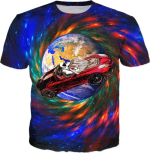 Lol, Tumblr, and Blog: lol-coaster:Starman Space Car T-shirt