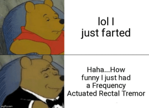 Funny, Lol, and Dank Memes: lol I  just farted  Haha...How  funny I just had  a Frequency  Actuated Rectal Tremor  imgflip.com Nice