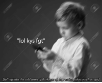 "kys: ""lol kys fgt""  [falling into the cold arms of darkness as dearession  takes you hostage)"