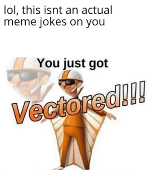 You just got skididlled: lol, this isnt an actual  meme jokes on you  You just got  Vectored!! You just got skididlled