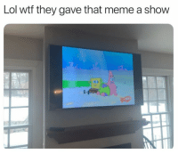 Lol, Meme, and Wtf: Lol wtf they gave that meme a show