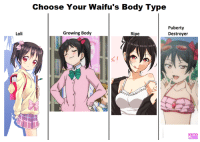 One growing body pls :^)  -Admin: Loli  Choose Your Waifu's Body Type  Puberty  Growing Body  Destroyer  Ripe One growing body pls :^)  -Admin