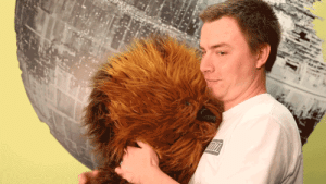 Chewbacca, Star Wars, and Tumblr: lolzandtrollz:    Chewbacca Plush  Perfect companion for anyone who has ever wanted a furry co-pilot of their own.