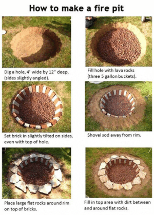 lolzandtrollz:  Learn To Make A Fire Pit: lolzandtrollz:  Learn To Make A Fire Pit