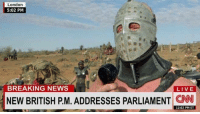 Pm: London  5:02 PM  BREAKING NEWS  LIVE  NEW BRITISH PM. ADDRESSES PARLIAMENT  CNN  12:02 PM ET Pm