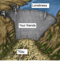 Friends, Life, and Loneliness: Loneliness  Your friends  You <p>Never forget the important people in your life</p>