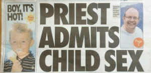 Jesus, Sex, and Page: long jall  ADMITS  CHILD SEX  Page Jesus Christ, did nobody check the layout of this front page?