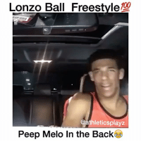 Memes, Smooth, and Back: Lonzo Ball Freestyle  @athleticsplayz  Peep Melo In the Back Lonzo Is Smooth (peep Melo in the back)💯😂 Who is your favorite Ball Brother? 🤔 Comment below! 👇 - Follow @Sportzmixes For More‼️ - @athleticsplayz