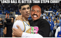 "Wor...never mind.: ""LONZO BALL IS BETTER THAN STEPH CURRY'  @NBAMEMES Wor...never mind."