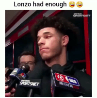 Funny, Nba, and Savage: Lonzo had enough  SPECTRR  SPORTSMET  NBA Savage clip of the day: Lonzo had enough 😂(@savvy_the_amusing) HoodClips