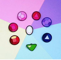 Memes, Amethyst, and 🤖: look at all these beautiful gem pins!❤️(They also sell Lapis) Which one is your favorite? Go to @goellnerd_pins bio link to get your own today!👌 stevenuniverse pins cartoonnetwork garnet amethyst pearl ruby sapphire garnet peridot